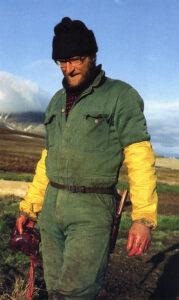 Harald Solheim, bildet er hentet fra Svalbardboka 3. (Foto: Birger Amundsen)